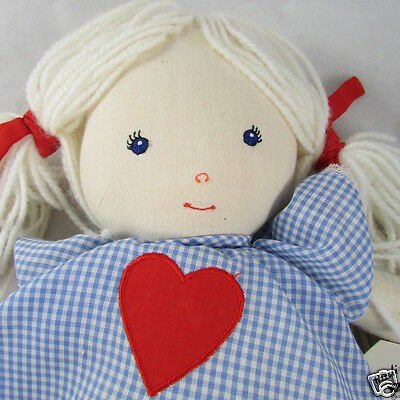 Pauline Bjonness-Jacobsen Rag Doll Emboidered Face Hand Finished Touches 1990s