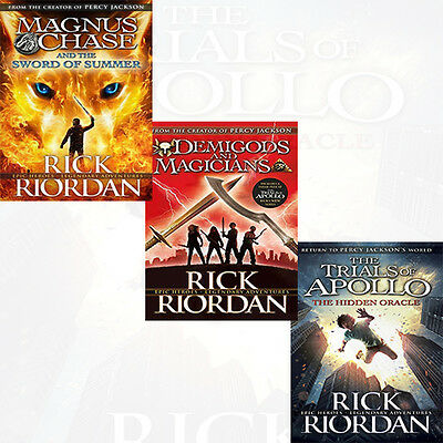 Rick Riordan Collection 3 Books Set The Hidden Oracle,Demigods and Magicians NEW