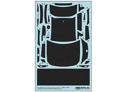 Tamiya 12659 1/24 Model Car Carbon Pattern Decal Parts For Toyota 86 GT86 24323