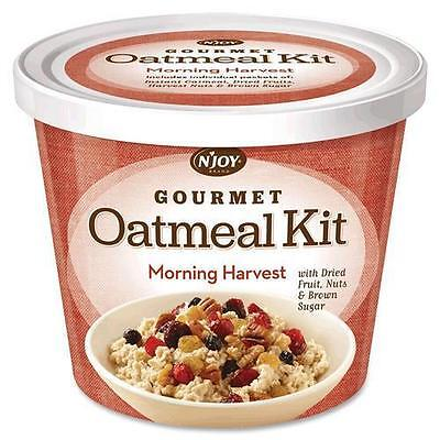 Njoy 40772 Gourmet Morning Harvest Oatmeal - Resealable Lid, Individually Wrappe