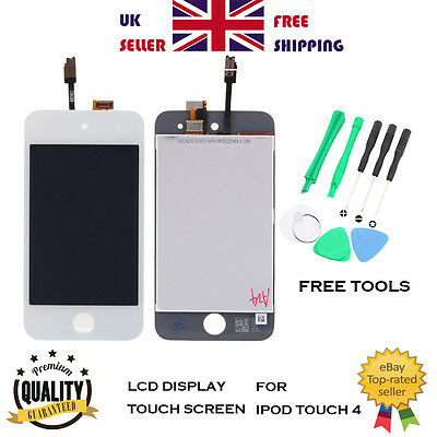 LCD Display Touch Digitizer Screen Glass Replacement for iPod Touch 4 4th White