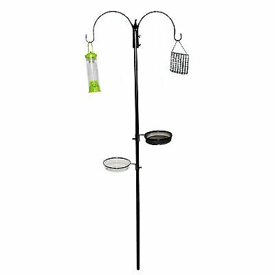New Wild Bird Feeding Station Garden Hanging Steel Feeder Table Water Bath Tray