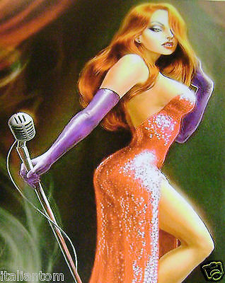 Matted Disney Jessica Rabbit Sexy Roger Cel Cell Animation Art