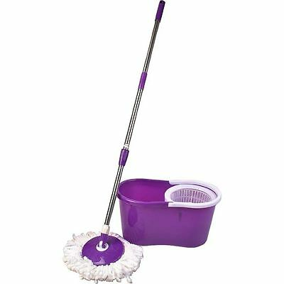 Microfiber Spinning Magic Spin Mop Bucket 2 Heads Rotating 360° Easy Floor Mop