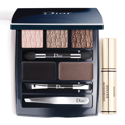 Dior Eye Designer Makeup Palette - Mascara Eyeshadow Brow & Eye Liner Tweezers