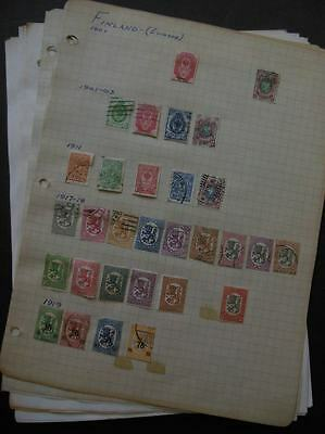 FINLAND : Old Time Mint & Used collection on pages.