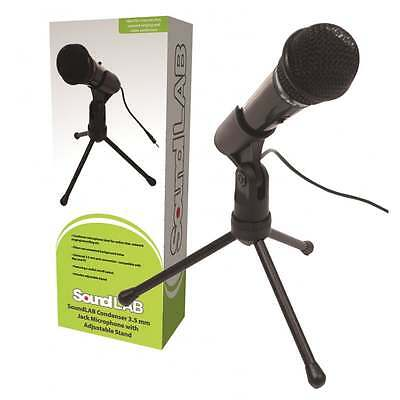 Budget Digital Condenser Microphone 3.5mm Stereo Jack inc Stand For PC or Laptop