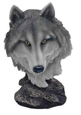 Wolf Bust Pack Leader Statue