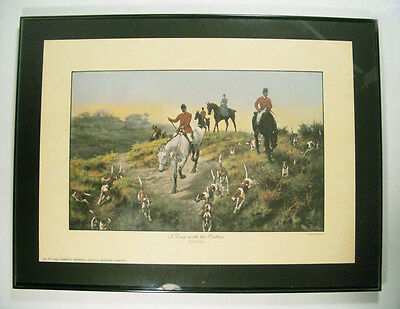 Thomas Blinks Fox Hunt  Print Framed A Day With The Oakley The Draw