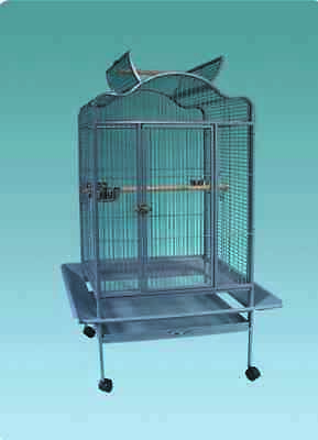 Everila Large Bird Parrot Cage Open Top 32Lx24Wx61H African Grey Macaw Amazon