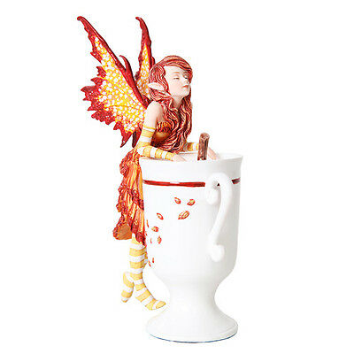 CIDER FAIRY Figurine Faery Figure Amy Brown teacup faerie cup mug statue