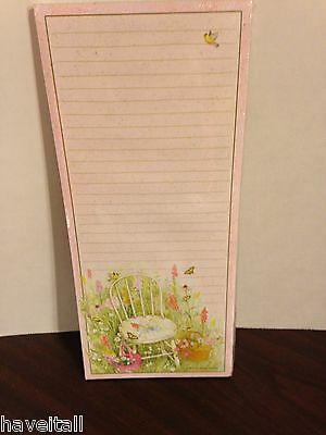 Longaberger Grocery Pad - Magnetic Back - Spring Chair- NEW in package