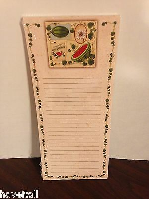 Longaberger Grocery Pad - Magnetic Back - Watermelon - NEW in package