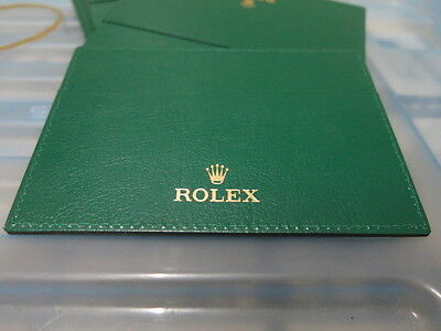 100% Authentic Rolex Green Card & Paper Holder
