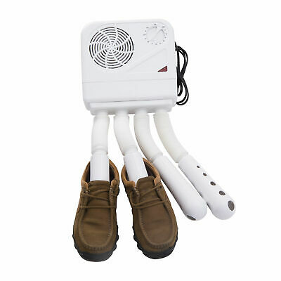Shoe Boot Dryer Electric Sports Wet Warmer Heater Disinfectant Portable White