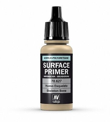 Vallejo Polyurethane Surface Primer -17ML BOTTLE  SKELETON BONE   VAL70627