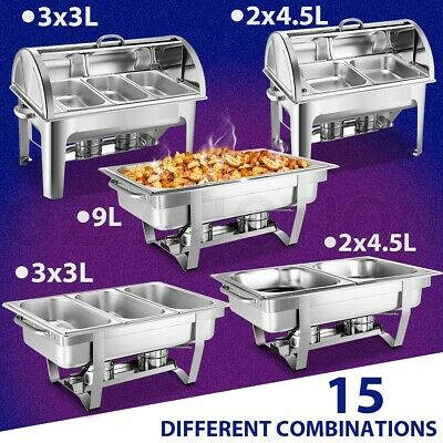 Multi-Choice Stainless Steel Bain Marie Chafing Dishes Buffet Food Warmer Heater
