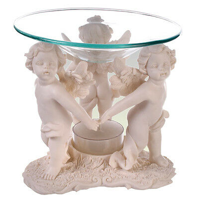 Angels Oil Burner Wax Tealight Candle Tarts Melts Glass Simmering Polyresin New