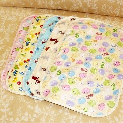 New Baby Infant Changing Pad Cartoon Urine Mat Cotton Absorbent Change Cover