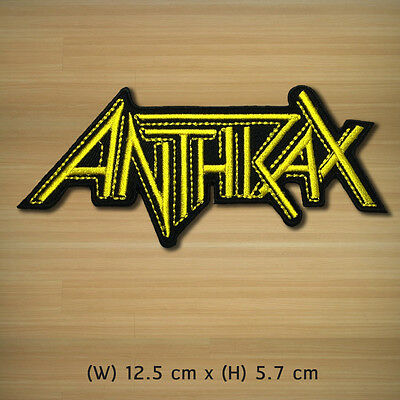 New Anthrax Embroidered Iron On Patch American Rock Band Music Logo Heavy Shirt