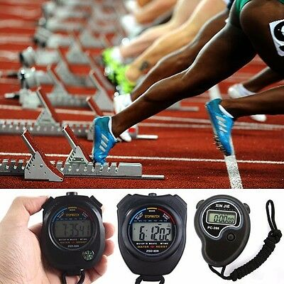 Professional Digital LCD Stopwatch Chronograph Timer Counter Sports Stop Watch