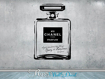 Chanel no 5 Classy and Fabulous Vinyl Wall art Decal STICKER home decor parfume