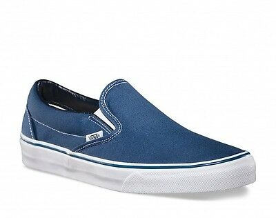 Vans Classic Slip-On Shoes (Navy) VEYENVY **Official UK Vans Stockist**