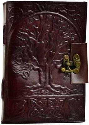 "5""x7"" Locking Leather Bound Tree of Life Book of Shadows, Journal, Diary!"