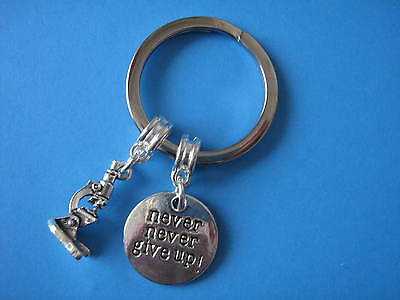 Graduation Gift Microscope Charm Keyring Biology Medical Research Science Gift