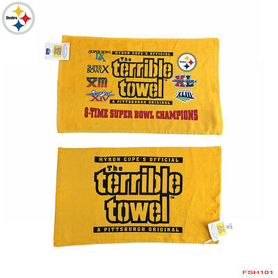 NWT The Original Pittsburgh Steelers Terrible Towel Myron Cope's Official