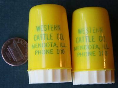 1950s Era Mendota,Illinois Western Cattle Co.S & P / salt & pepper shaker set!