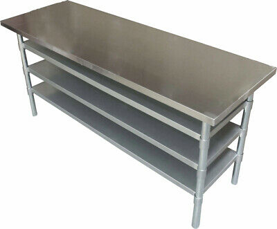 1.5M #430 Cafe Portable Stainless Steel Gym Health Club Bench ,3 Undershelf