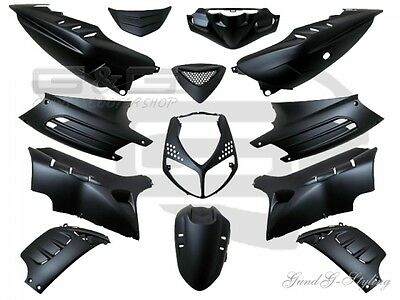 Panel Trim Set 13 Parts Matt Black For Peugeot Speedfight 2