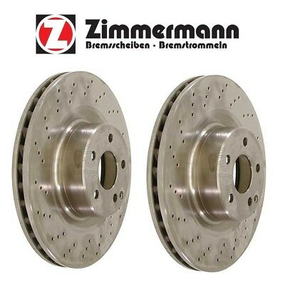One New Zimmermann Disc Brake Rotor Rear 400366620 Mercedes MB CL600 S600