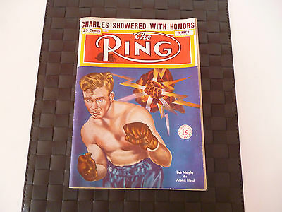 The Ring Boxing Magazine March 1951 Cover - Bob Murphy/atomic Blond