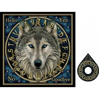 Wolf Spirit Ouija Talking Board, decorative wooden 36 cm, by Nemesis Now NOW9985