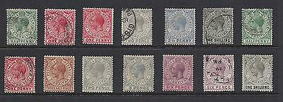 1912   Gibraltar   Sc#66-84 Partial Set Used And Unused