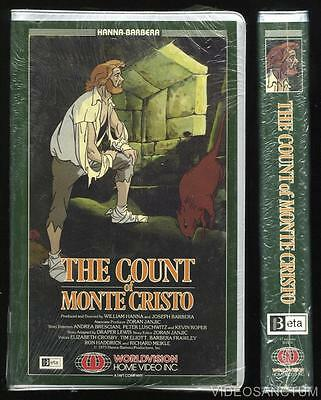 Animated Beta Not Vhs The Count Of Monte Cristo 1973 Worldvision Home Video Cult