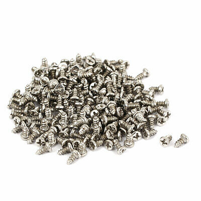 M1.5x3mm Thread Nickel Plated Phillips Round Head Self Tapping Screws 200pcs