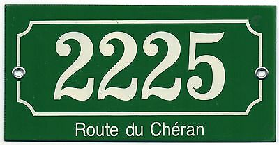 Old French house number 2225 door gate plate plaque enamel steel metal sign