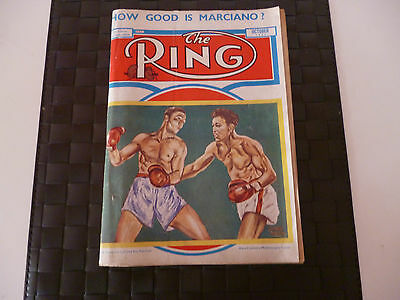 THE RING BOXING MAGAZINE OCTOBER 1951 COVER - RANDY TURPIN v RAY ROBINSON