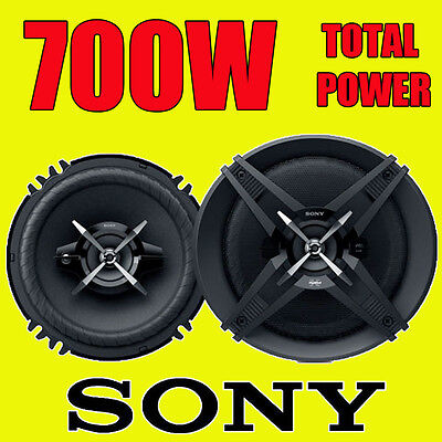 SONY 700W TOTAL 3-WAY 6.5 INCH 16.5cm CAR DOOR/SHELF COAXIAL SPEAKERS PAIR