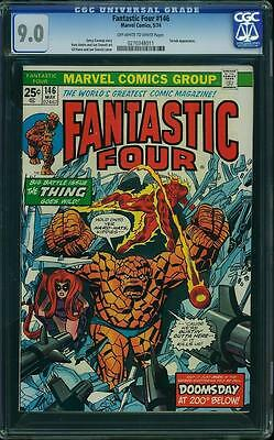 Fantastic Four #146  Us Marvel 1974    Vfn-Nm Cgc 9.0