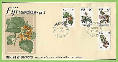 Fiji 1983 Flowers set on First day Cover