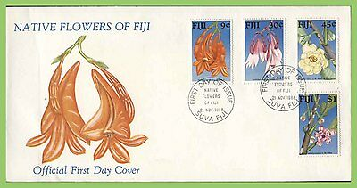 Fiji 1988 Flowers set on First Day Cover