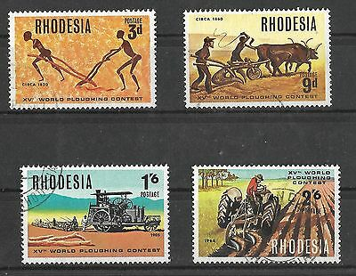 Rhodesia, 1968,15Th World Ploughing Contest, Sg 422-25, Fine Used Set 4