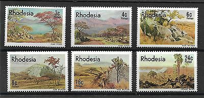 Rhodesia, 1977, Landscapes, Paintings, Sg 543-48, Mnh Set 6