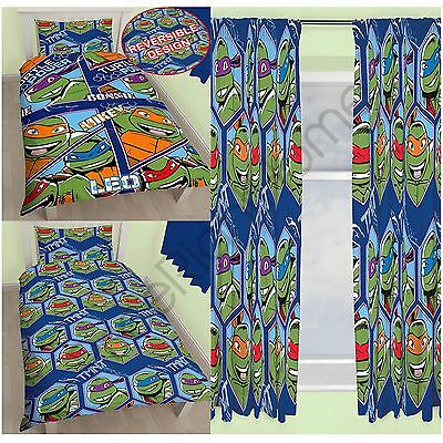 "Teenage Ninja Turtles Dimension Single Double Duvet + Choice 54"" & 72"" Curtains"