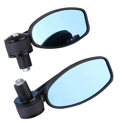 """Motorcycle 7/8"""" Handle Bar End Mini Mirrors For Bobber Clubman Cafe Racer"""
