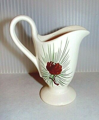 Mid Century Vintage Loveland Ceramic Pottery 108 Pinecone Small Pitcher Vase H